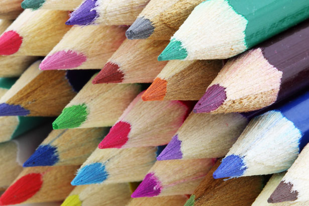 Lucky for me, colored pencils are labeled with their names.