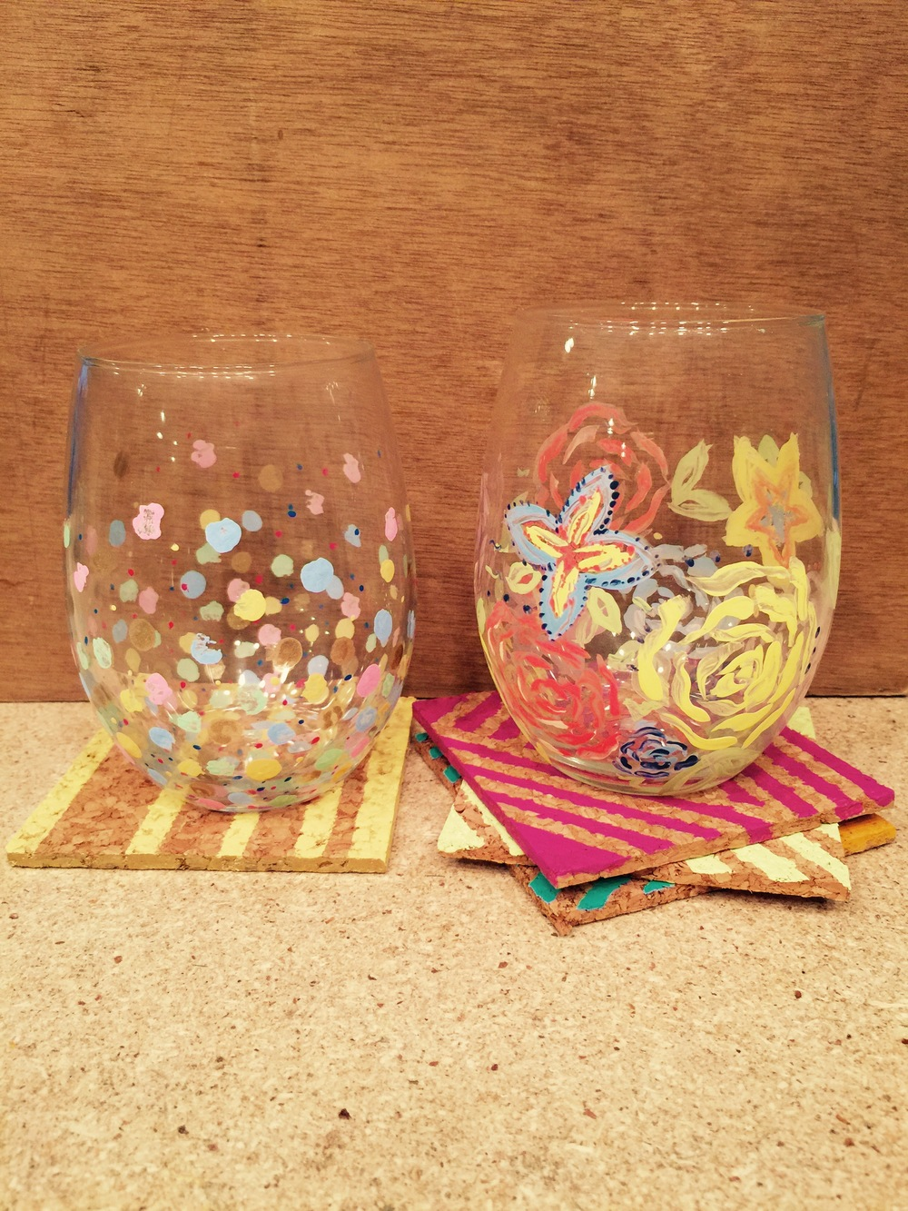 Wine Glass Painting The Makery