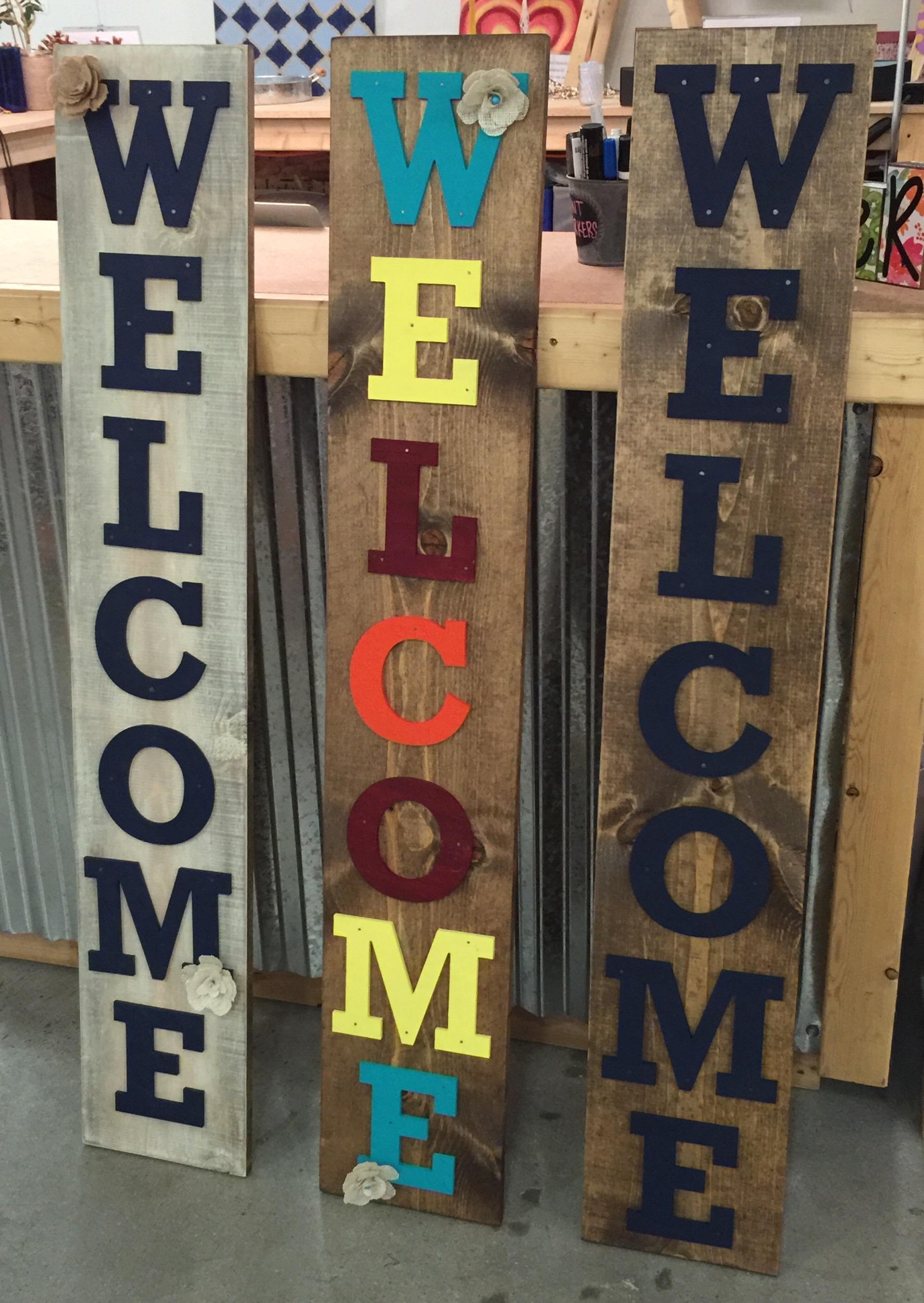 Tall Front Porch Welcome Sign The Makery
