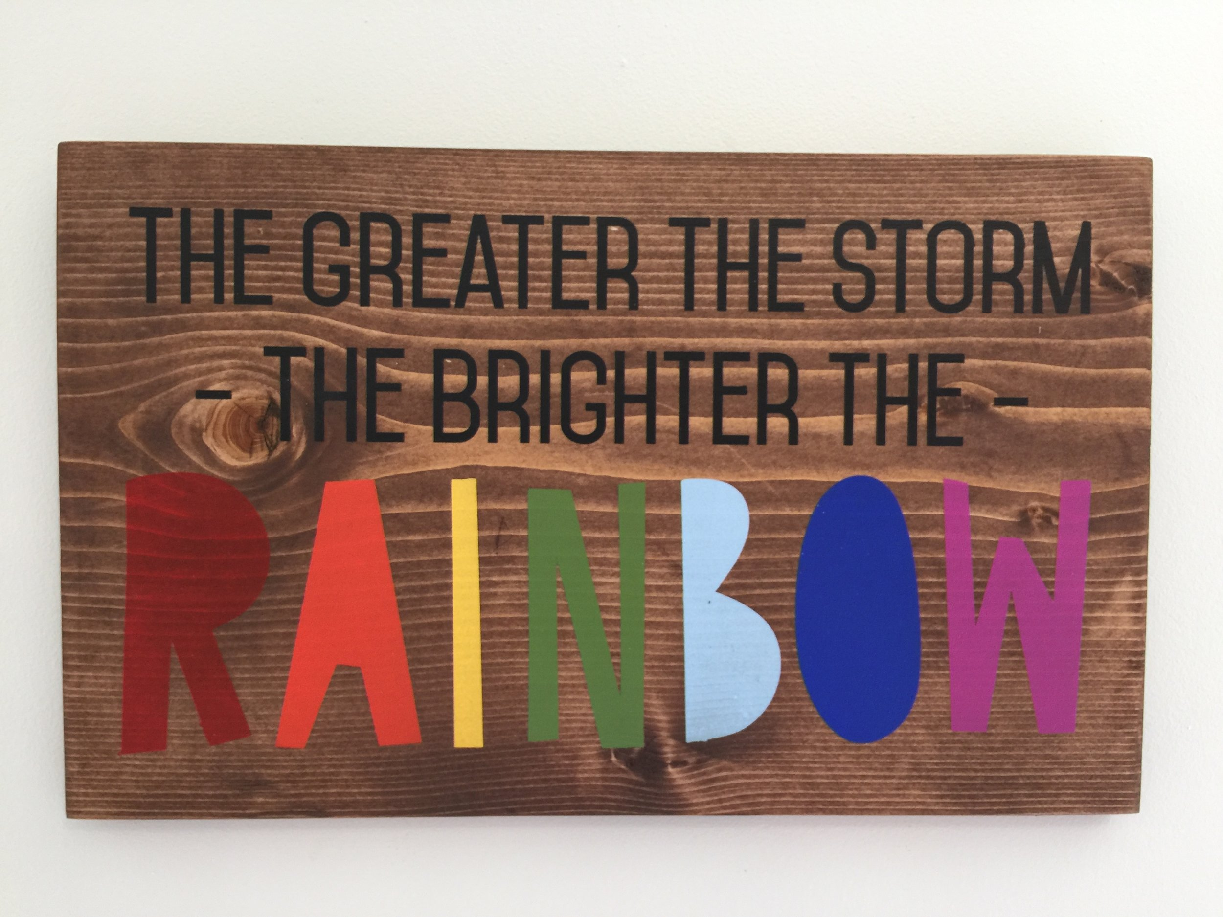 The Greater the Storm, the Brighter the Rainbow