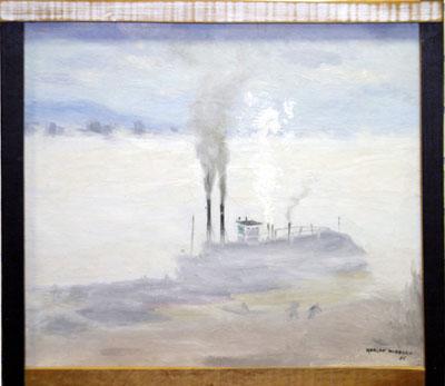 Harlan Hubbard ,  The Fog   http://www.harlanhubbard.com/