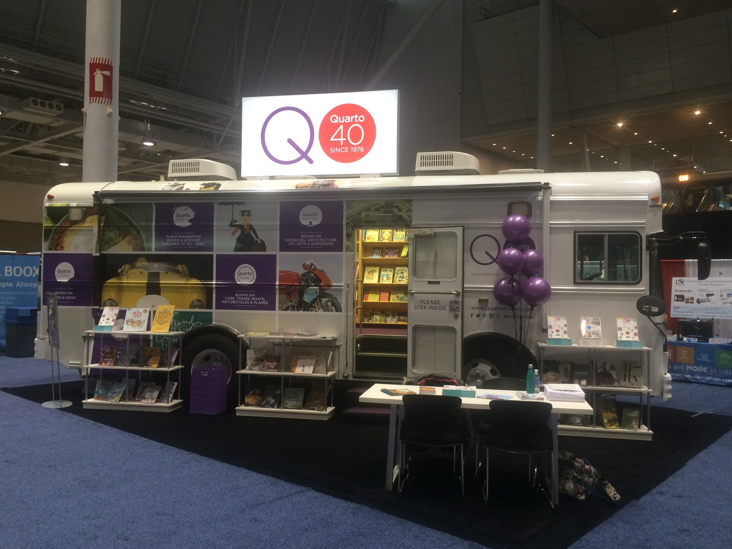 40th Anniversary Bus at the American Library Association Fair, January 8-11, 2016