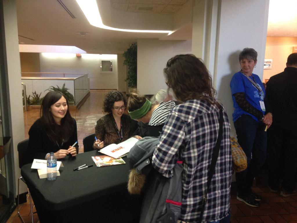 Rowan Signing at Wordfest.JPG