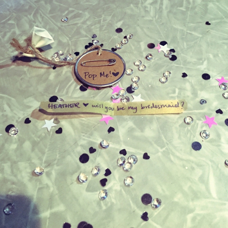 popping the question to your bridal party | www.forevercole.com