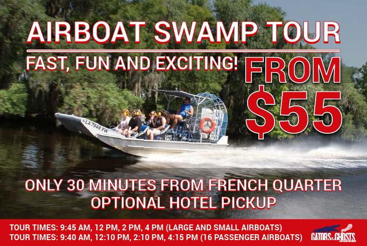 Swamp Tour New Orleans >> New Orleans Airboat Swamp Tour Save 10 With Promo Code