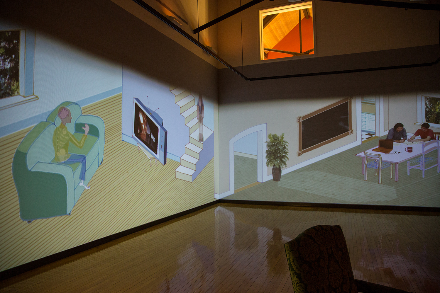 Bodies Take To Light ,   2015, Holbrook Art Center, Millbrook NY,  collaboration with Jimi Pantalon, three channel video installation, running time 11 minutes, curated by William Hardy