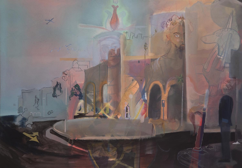 "Porta Pinciana ,   2010,  oil on canvas, 30"" x 40"""