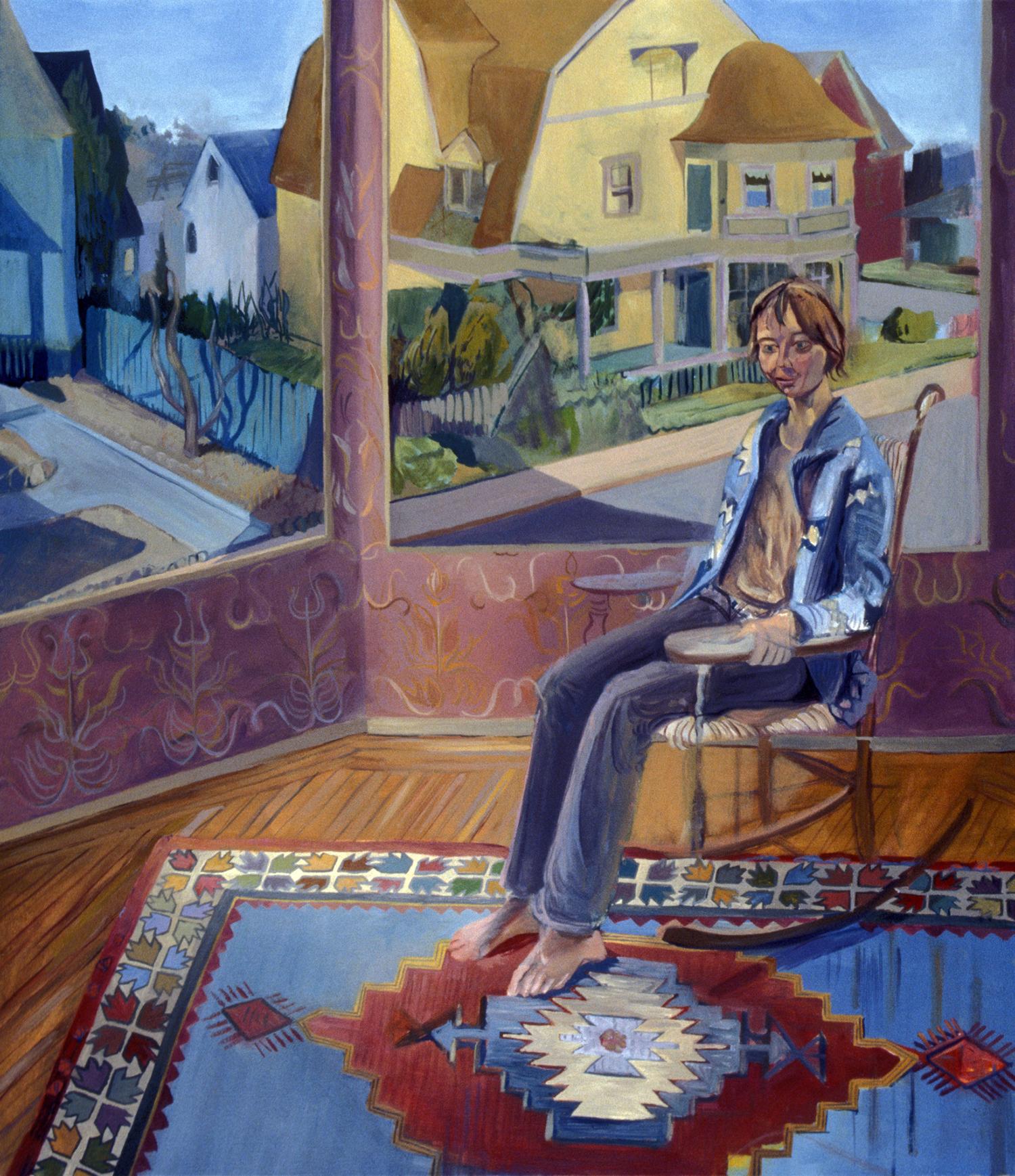 """Sunroom ,   2006,  oil on canvas, 44"""" x 36"""""""