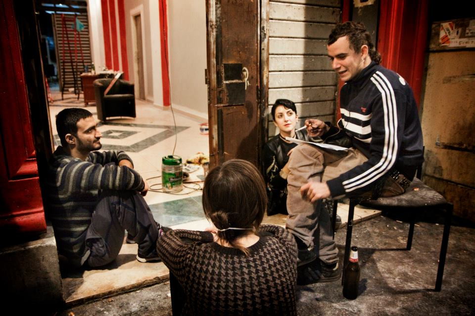 Members of Urban Laboratory ReWorkShow at the Cinema Volturno. Image Credit: Claudio Apicella