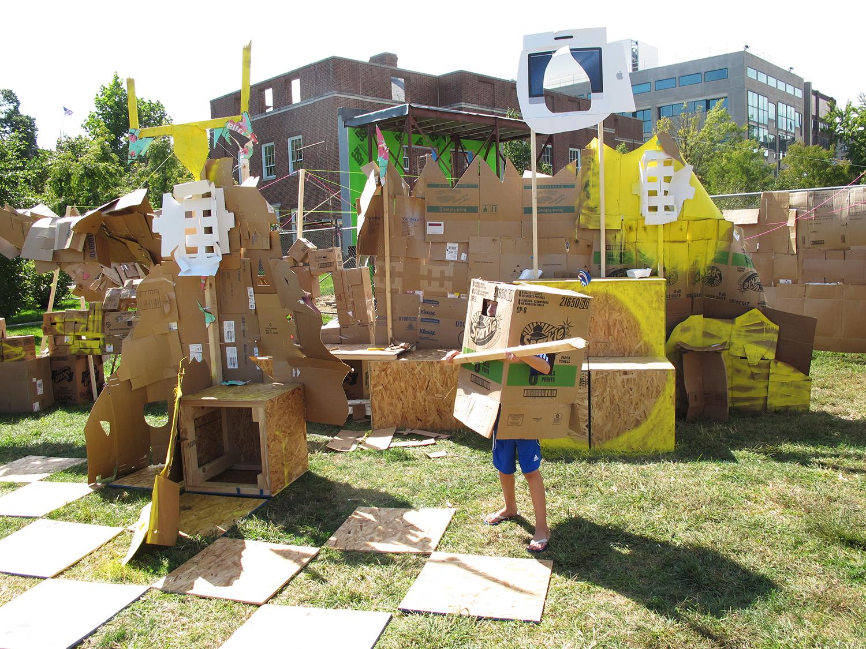 Cardboard Village   , 2013, Philadelphia PA,  collaborative public art project, IDEA Days Design Festival