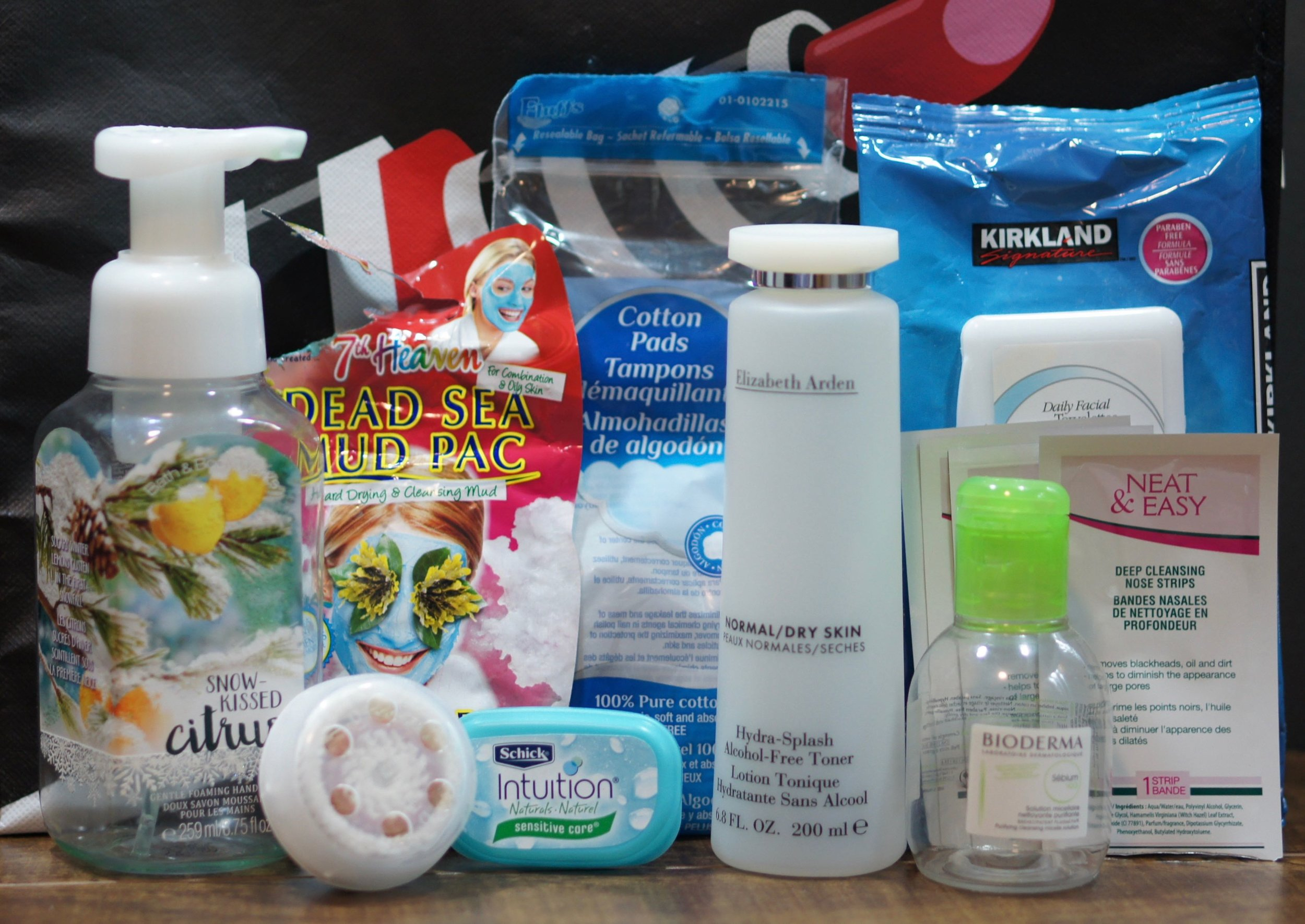 Bath and Face care empties for October 2016.