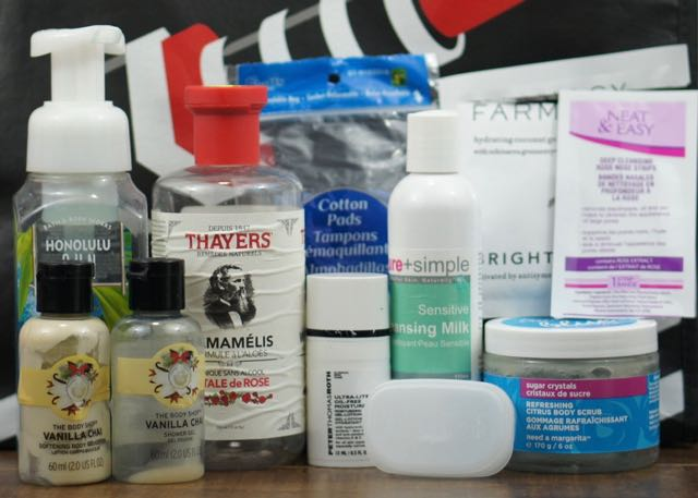 Face and Skincare empties for April.