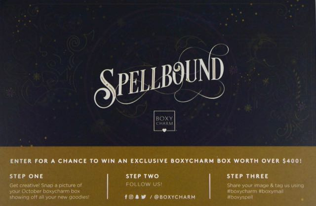 October 2017 BoxyCharm-Spellbound-cardOctober 2017 BoxyCharm-SpellboundDSC02030.jpg