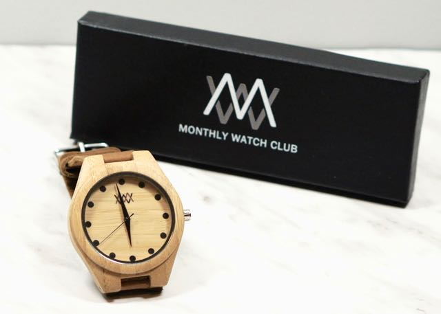 Beautiful bamboo watch from Monthly Watch Club.