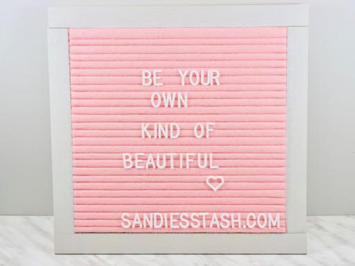 The finished DIY pink felt letter board.