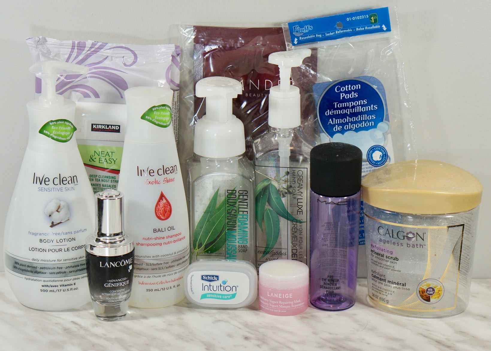 I ended up using up quite a few full size Face & Body products last month.