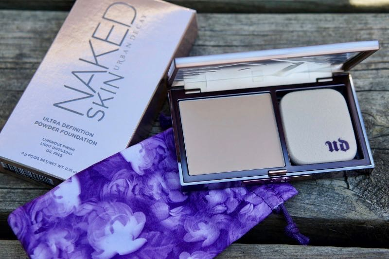 The packaging and newness of the Urban Decay Naked Skin Ultra Definition Powder Foundation.