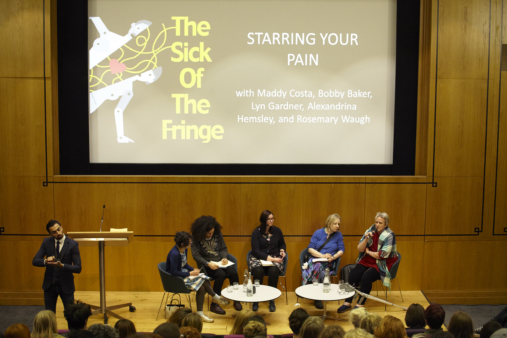 Starring Your Pain panel discussion interpreted by Kam Deo. Image by Manuel Vason.