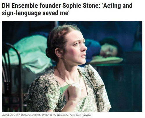 Co-founder Sophie Stone talks to The Stage