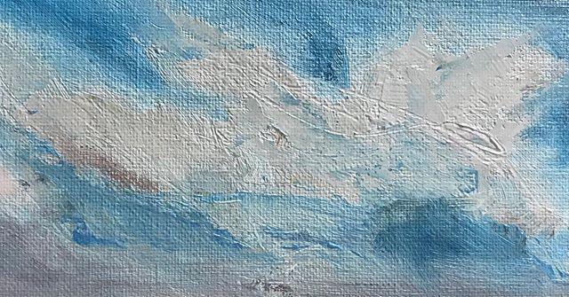 I painted some clouds today. . . #artist #fineart #oils #abstract #abstractart #landscape  #sky #clouds #dentonloomis #artgallery #artstudio #oilandwaterstudio #utrecht
