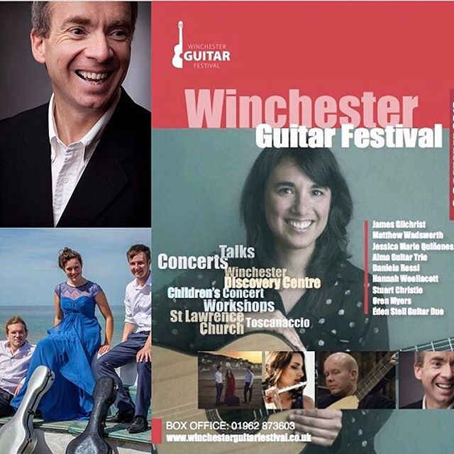 Really looking forward to playing a concert as part of the fantastic Winchester Guitar Festival! There are many other concerts happening across the weekend so Come along if you can - we're playing on Friday, 9pm at St. Lawrence Church, Winchester.