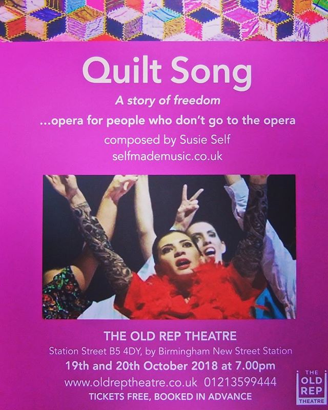 News: Exciting times ahead!  We are very pleased to announce that we will be playing in the new Opera 'Quilt Song', by composer Susie Self in 7 days time! This will be performed at the Old Rep Theatre in Birmingham on the Friday 19th/Saturday 20th of October at 7:00pm. Tickets are FREE subject to booking in advance (there are currently still a few tickets remaining at https://www.oldreptheatre.co.uk). We are delighted to be working with Susie again and we are also very excited to be releasing a number of videos over the next week... A few months ago we worked with Susie and Renew to produce a documentary featuring her piece 'Maybellene'. As well as an insight into Susie's compositions, looking forward to the debut performance of her Opera, it also looks into the life of Alma Guitar Trio and what we do! Check back on our page as we will releasing the documentary in 6 parts in the lead up to the premier of 'Quilt Song'! We're excited and hope you are too! Stay tuned... #guitarporn #guitarworld #guitarlife #guitarra #guitarplayers #opera #susieself #quiltsong #lovemusic #newmusic #aria #trio #ensemble #guitar #classical #music #classicalmusic #19strings #almagt #rbc #royalbirminghamconservatoire