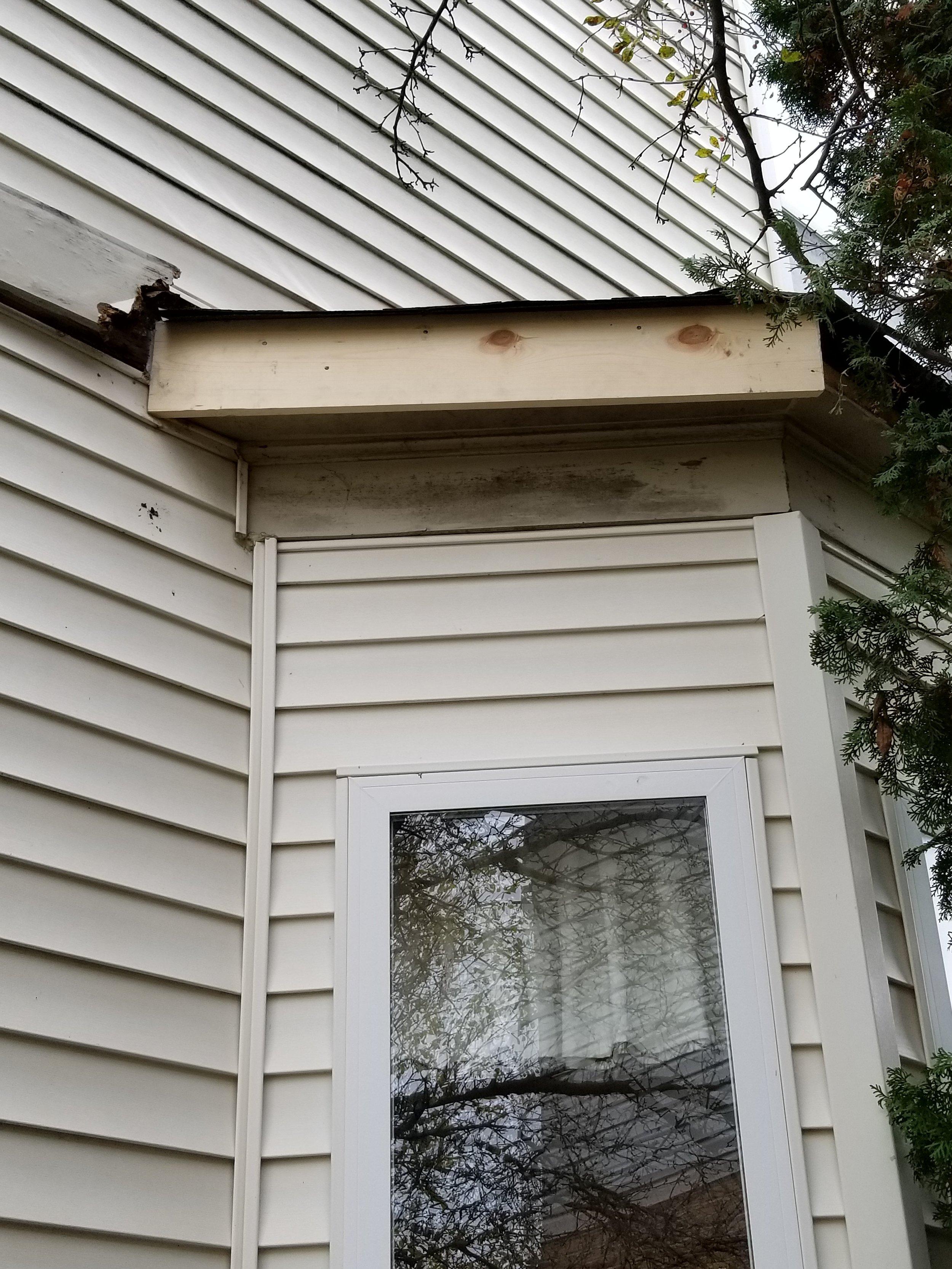 Exterior wood trim repairs