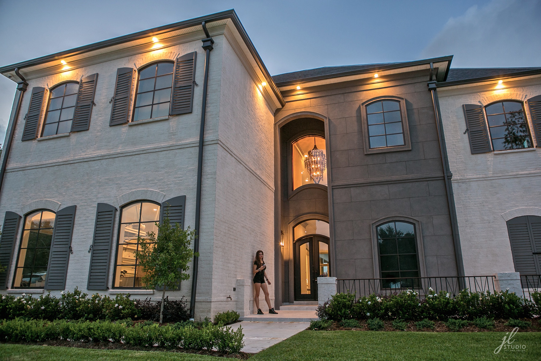 New construction home designed by Jacquelyn with JL Studio Designs. House built by Hoskins Homes.