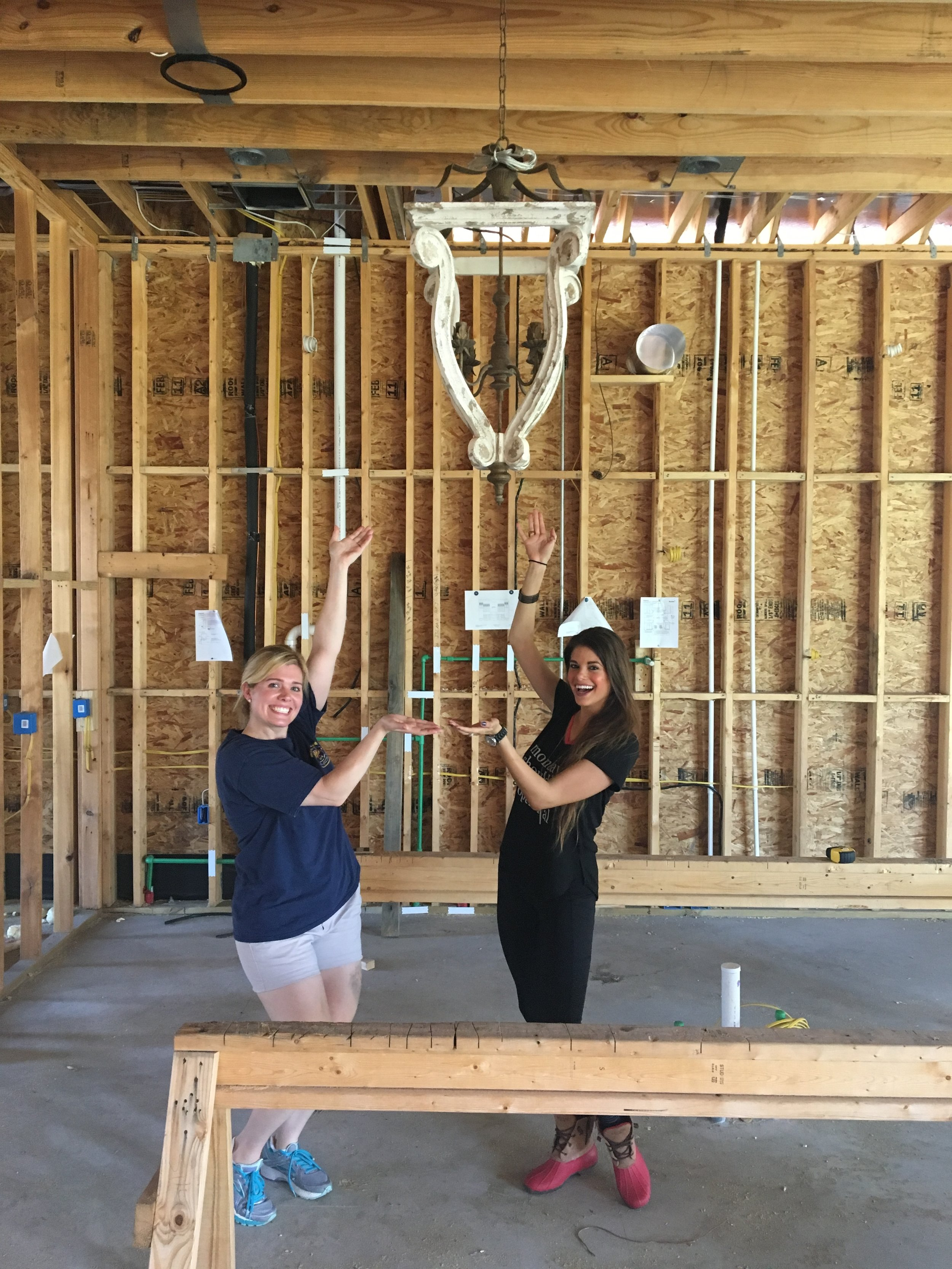 On left: Shannon Dufrene / Homeowner  On right: Jacquelyn Lindsey / Designer