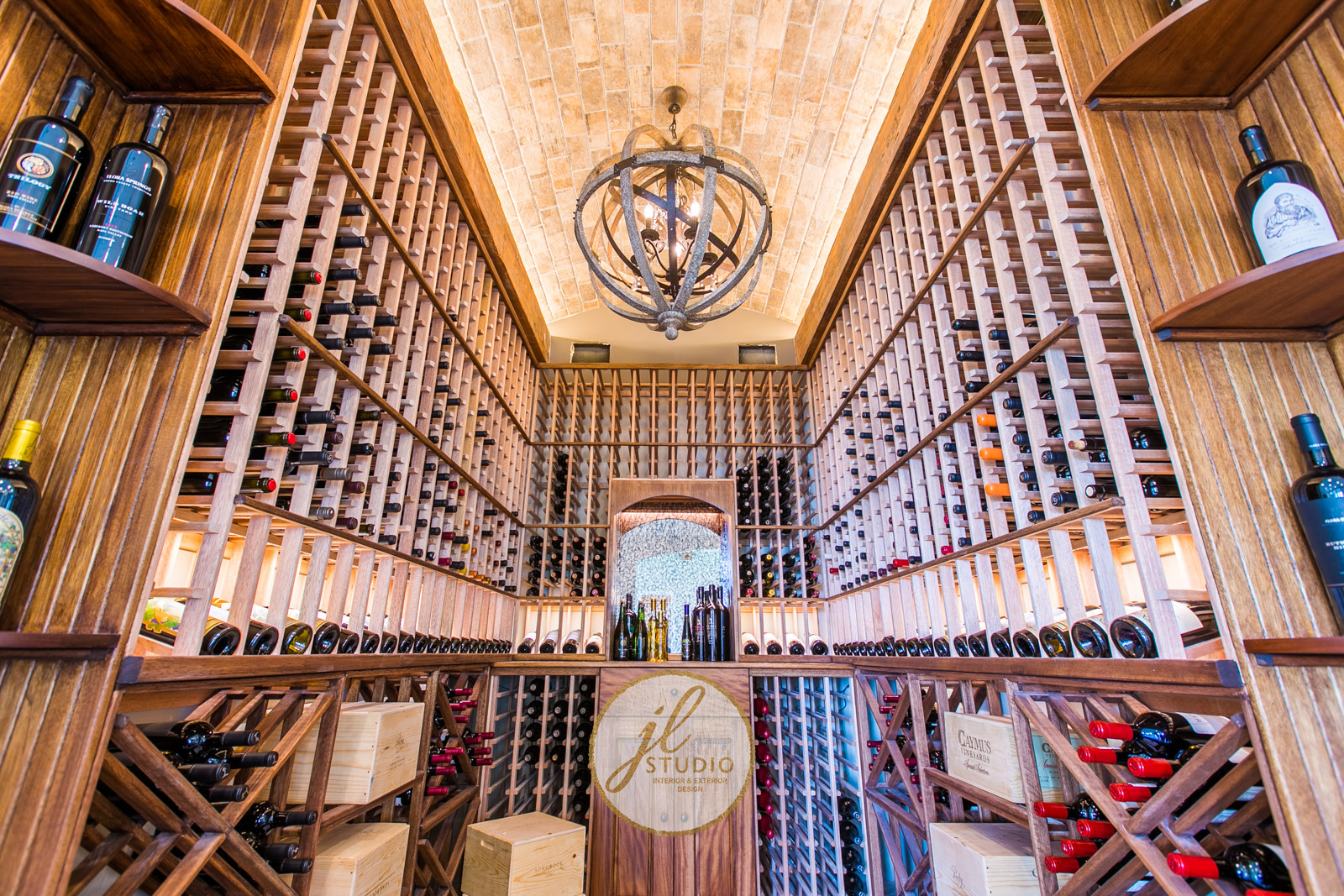 Wine cellar designed by JL Studio