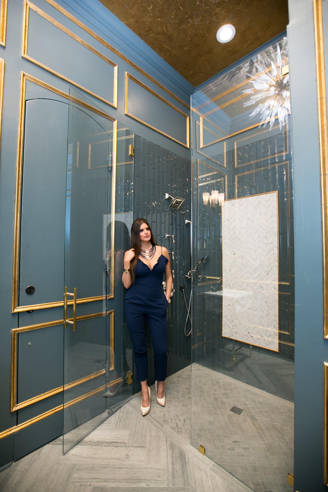 Powder bathroom designed by JL Studio Designs