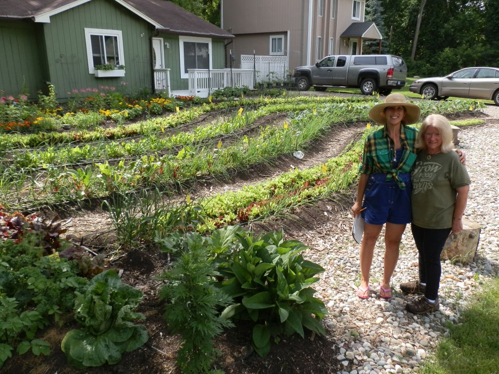 Erica, left, and Linda Jackson, owner of Nature's Harvest Organic Farm