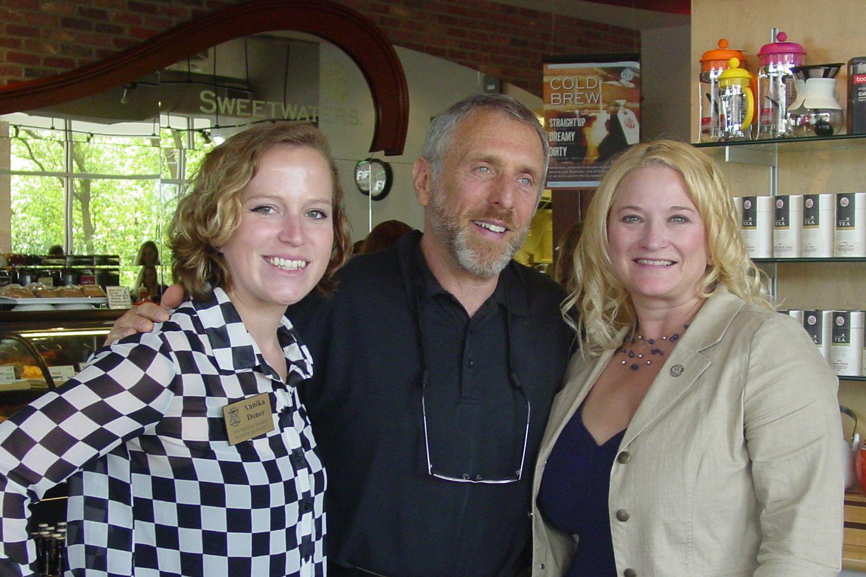 Left to right.Annika Doner, Paul Chatlin, Senator Rebekah Warren,
