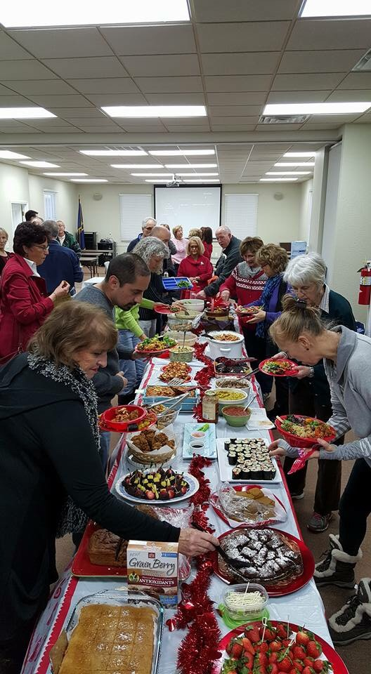 A delicious assortment of whole food plant-based meals prepared by our members.