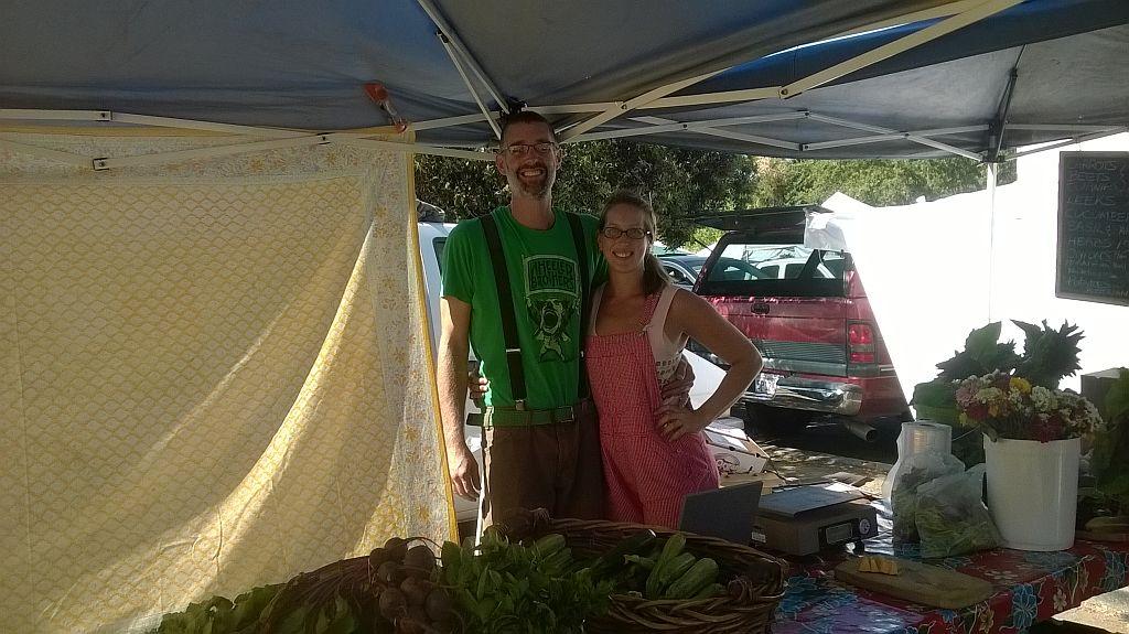Healdsburg California Farmers Market, representing Bernier Farms