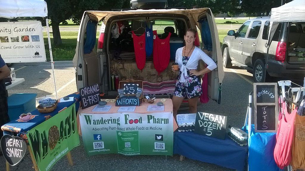 Clarkston Michigan Farmers Market, representing Wandering Food Pharm