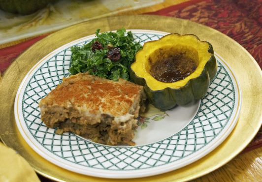 Jazzy Vegetarian harvest pie &   acorn squash.jpg