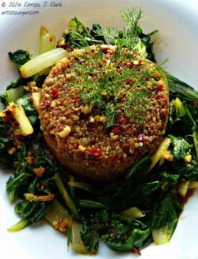 Artistic Vegan Beet Infused Quinoa.jpg