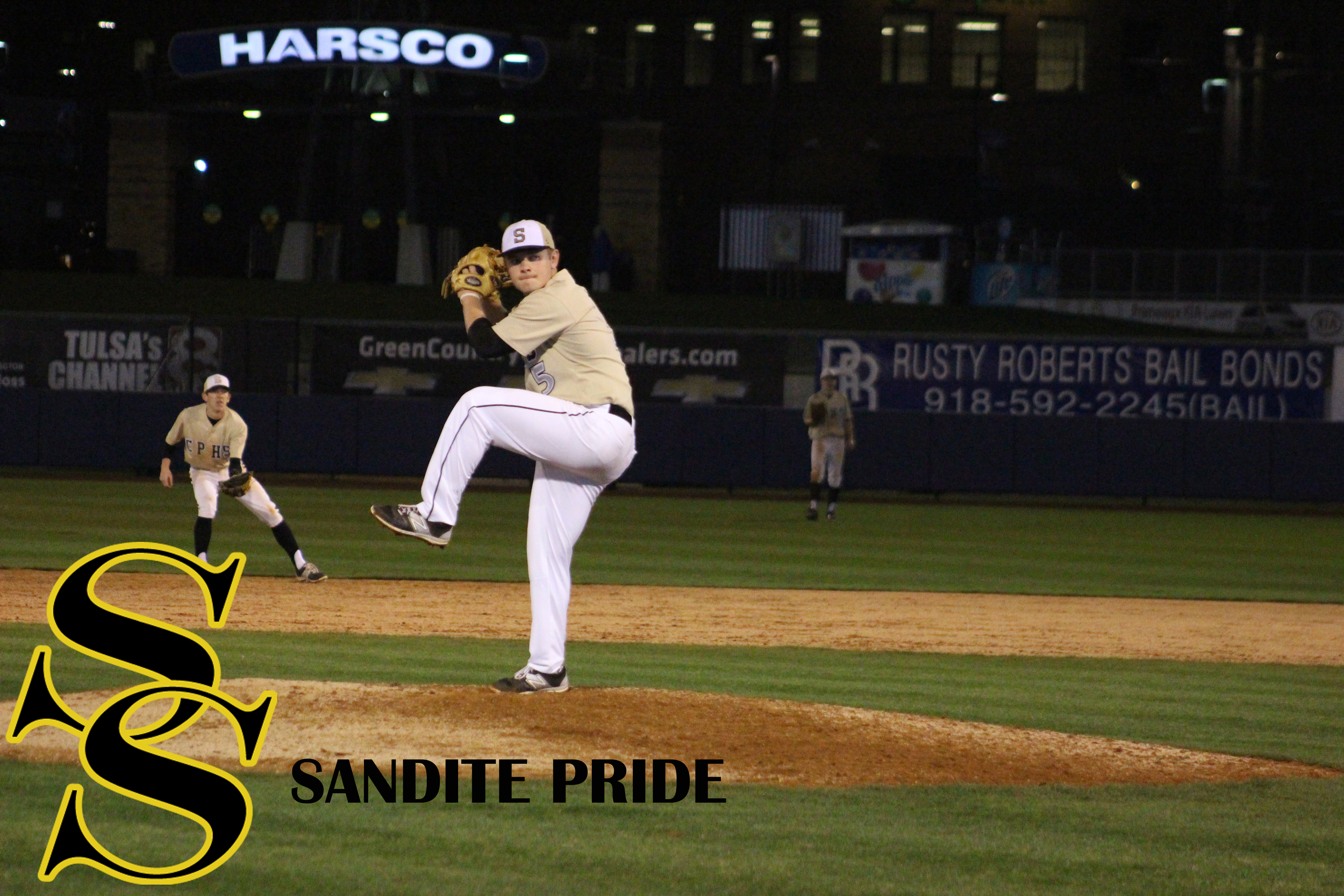 Jake Ward pitched 9 strikeouts in a win over Booker T Washington Monday night.