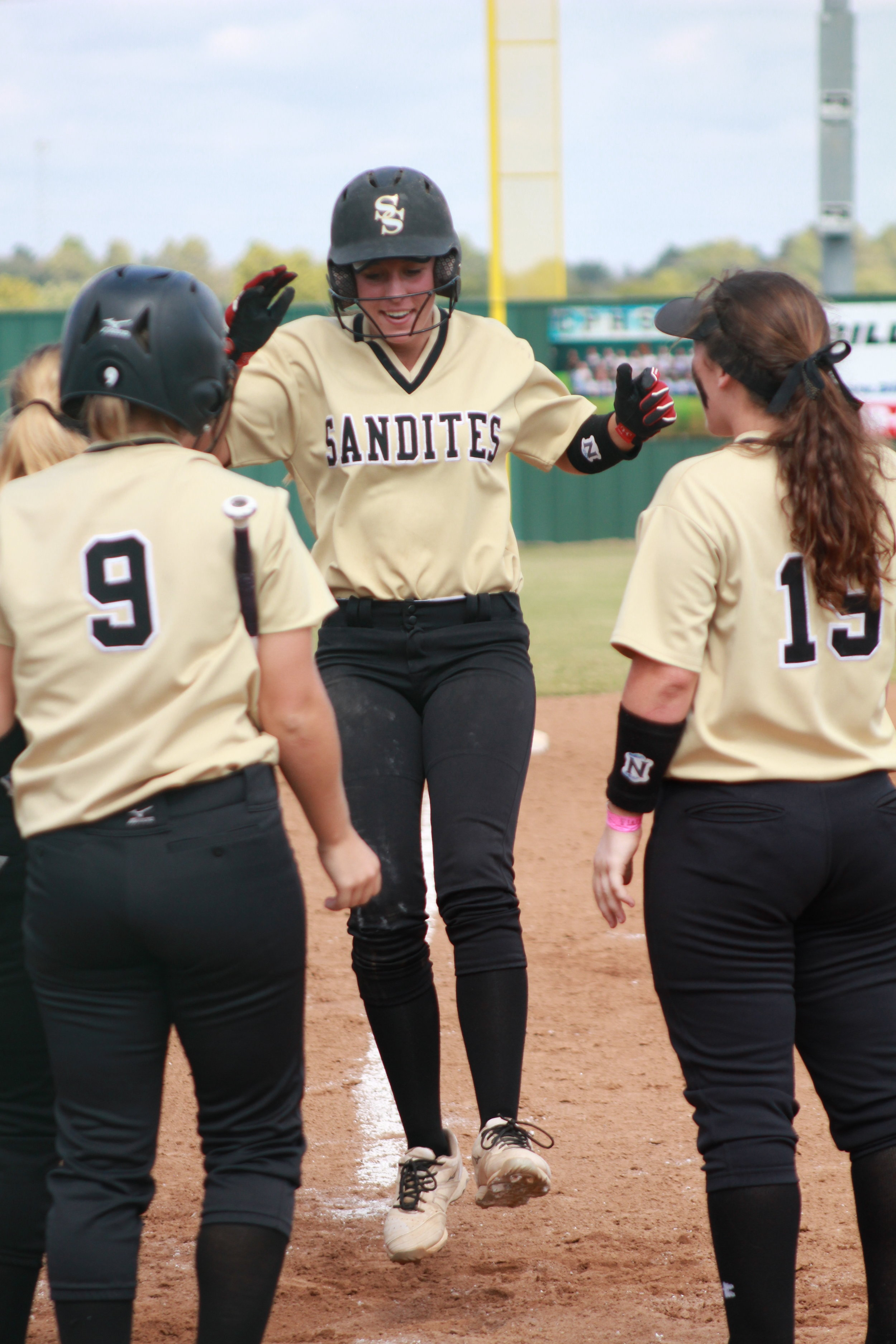 """Elizabeth """"Lizard"""" Luttrell hit her second career home run in an 8-0 victory over Claremore. (Photo: Scott Emigh)"""