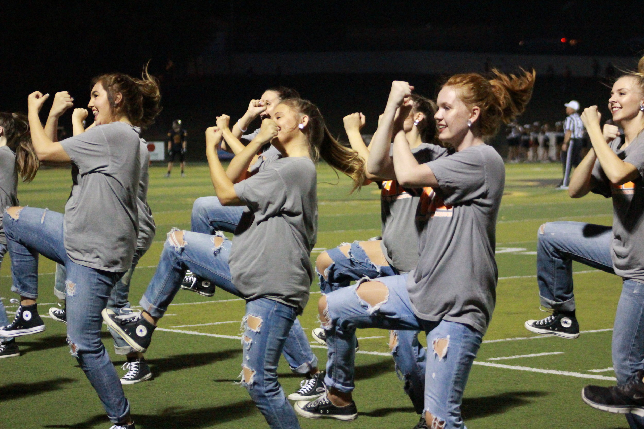 The CPHS Dance team gives a stellar halftime performance at the Highway 97 Rivalry game.(Photo: Morgan Miller).