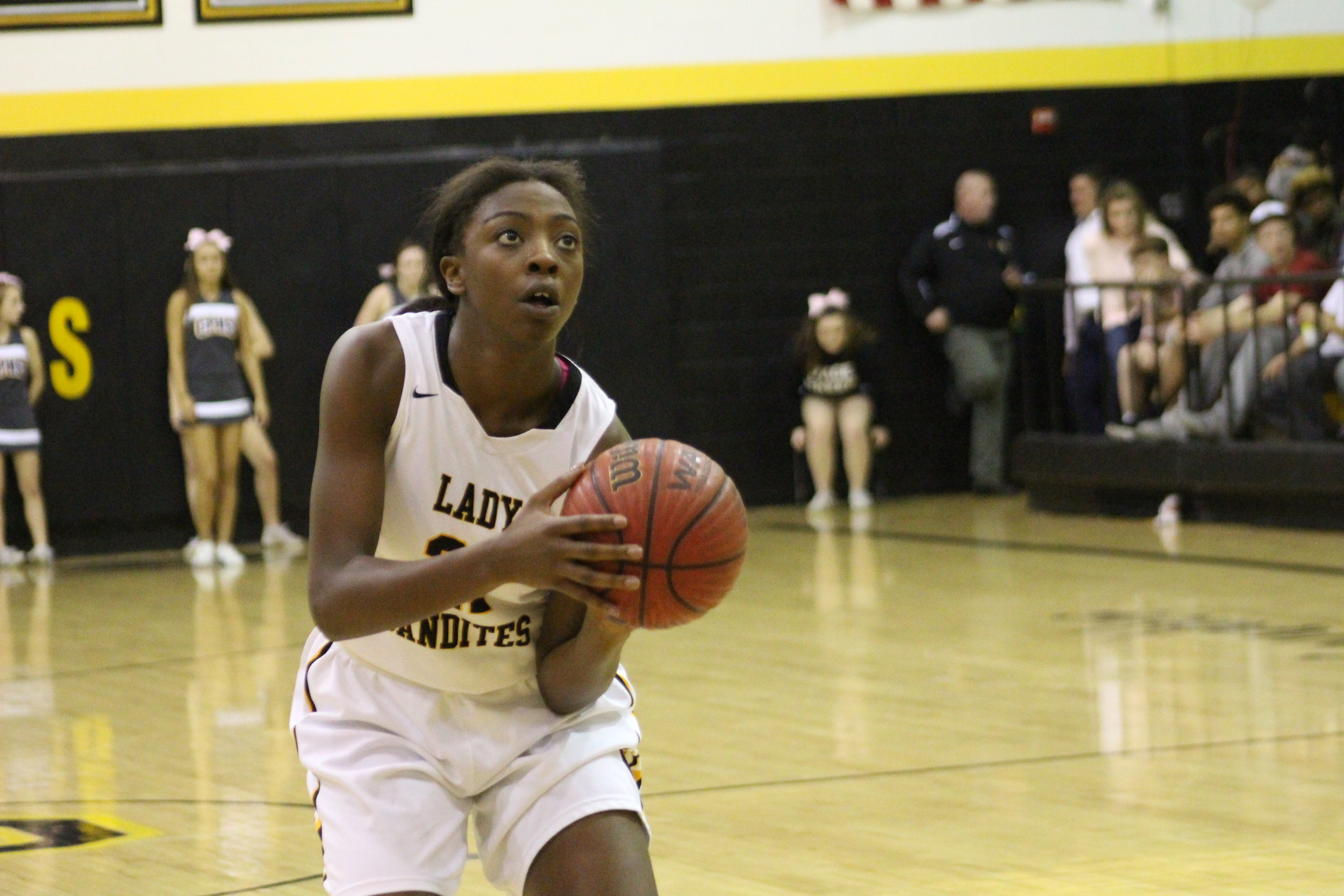 CPHS junior Gloria Mutiri led all scorers with 17 points and 13 rebounds against the Muskogee Lady Roughers. (Photo: Morgan Miller).