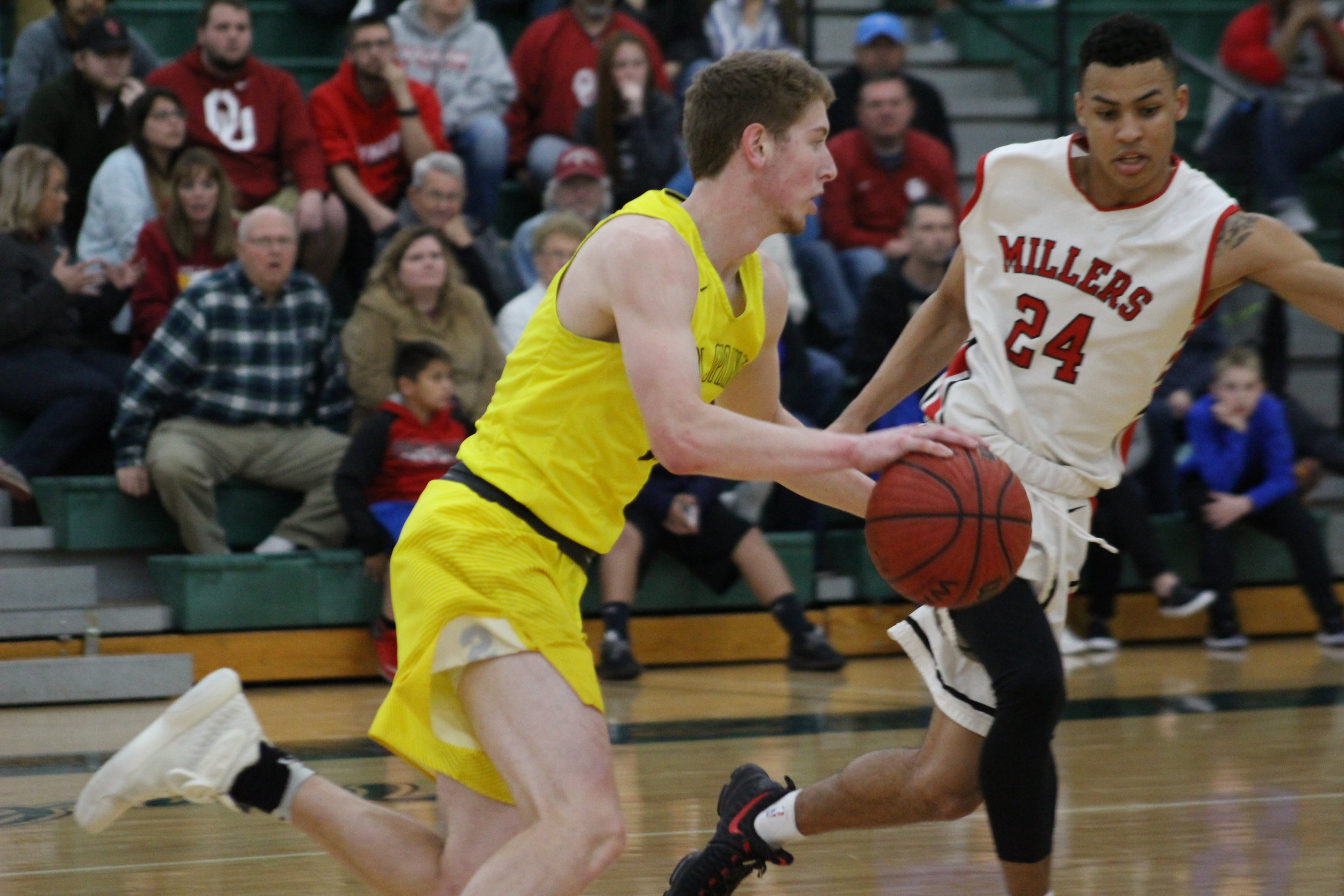 CPHS junior Colt Savage posted 28 points in the Regional Championship game at Norman North. (Photo: Scott Emigh).