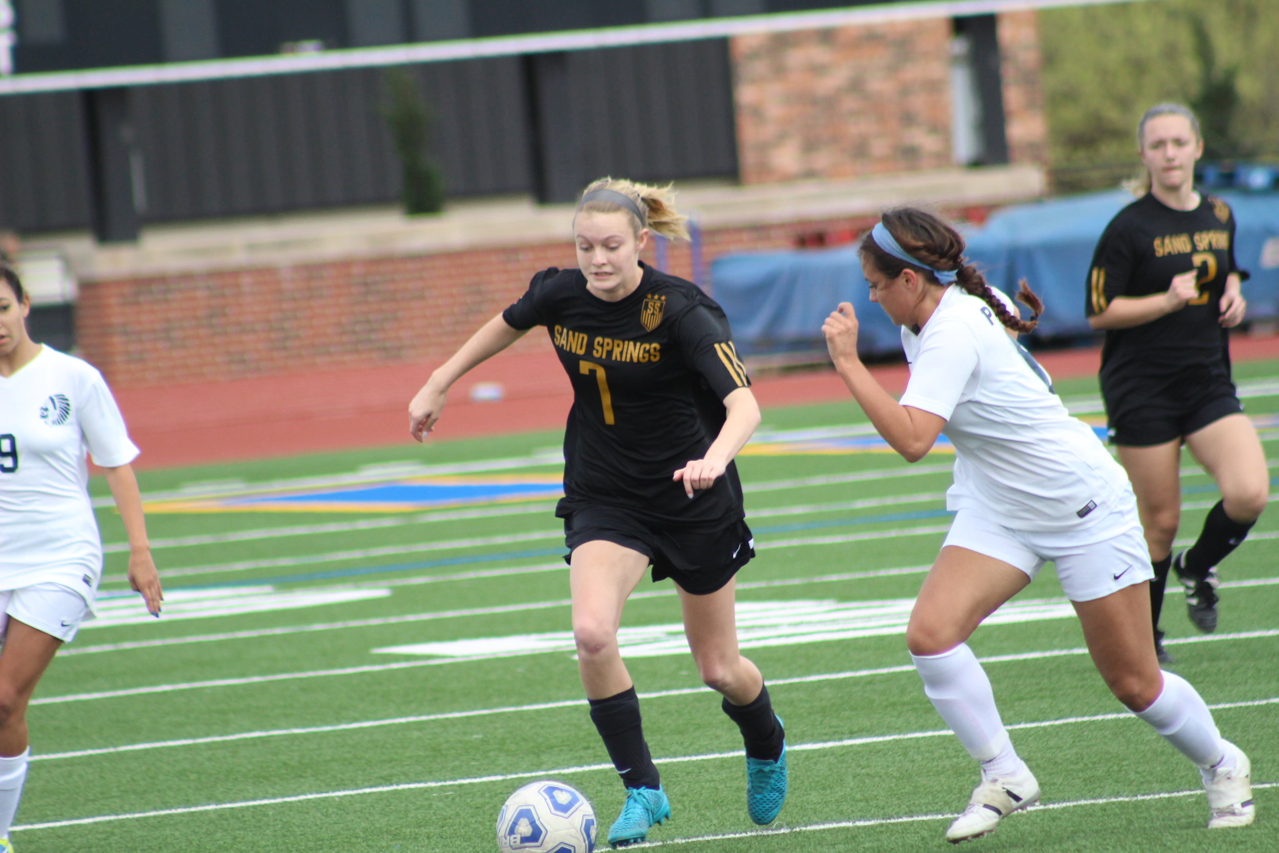 CPHS Senior Kyndal Zicker led her team with two goals in the 3-0 victory. (Photo: Emigh).