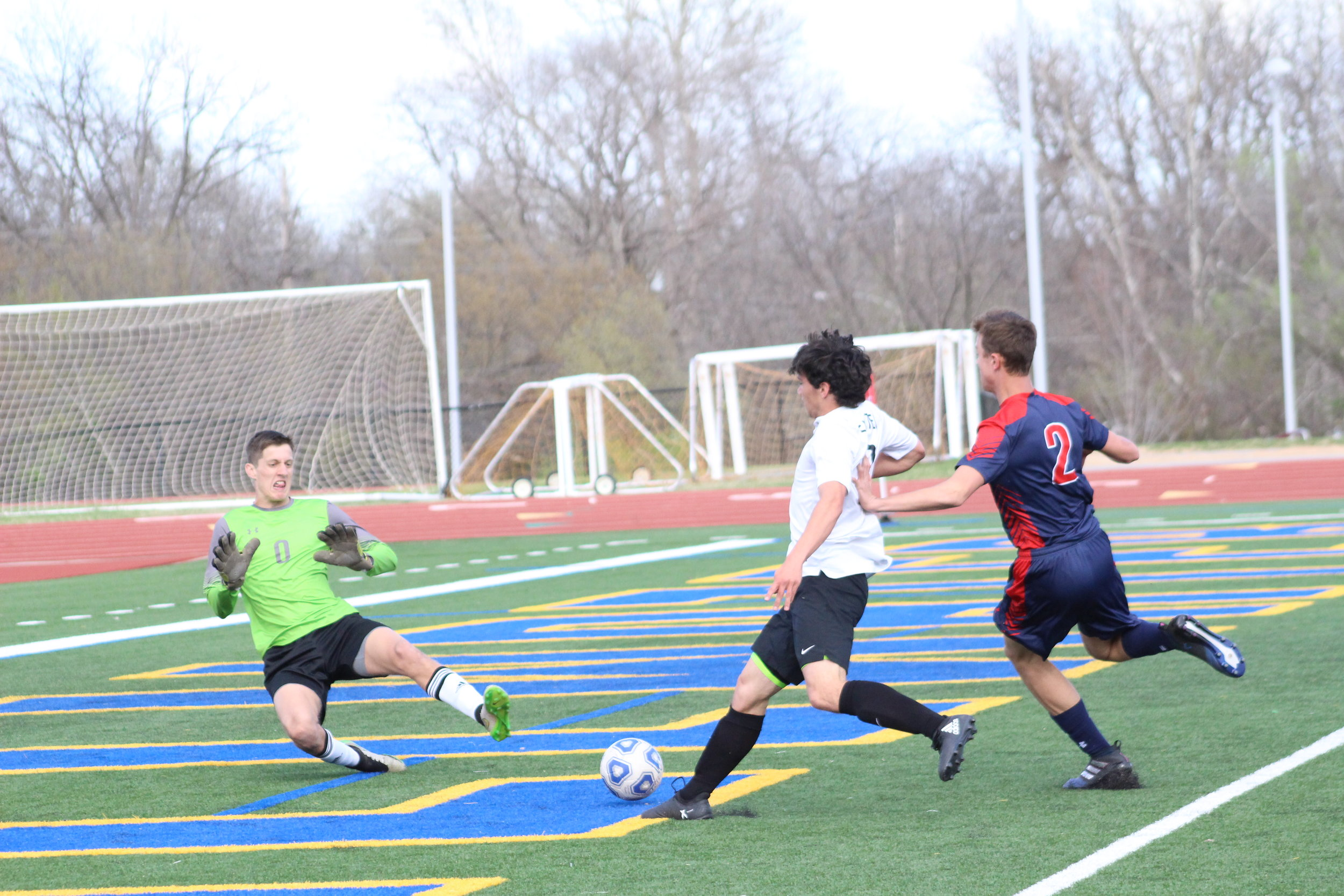CPHS Senior Cody Gurley scored his first goal of the season in a 3-1 loss to Ponca City. (Photo: Scott Emigh).