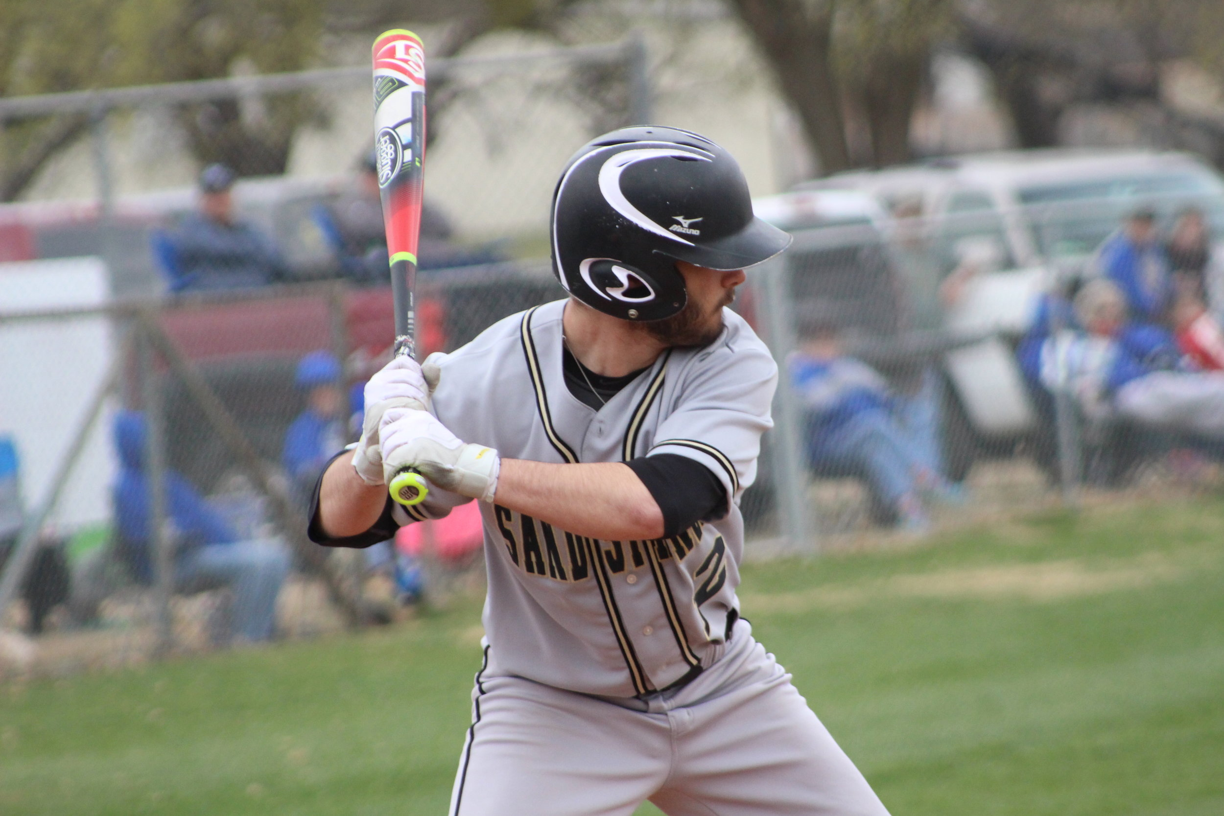 CPHS Senior Treyce Tolbert hit a 2RBI home run to give Sand Springs the lead. (Photo: Scott Emigh).