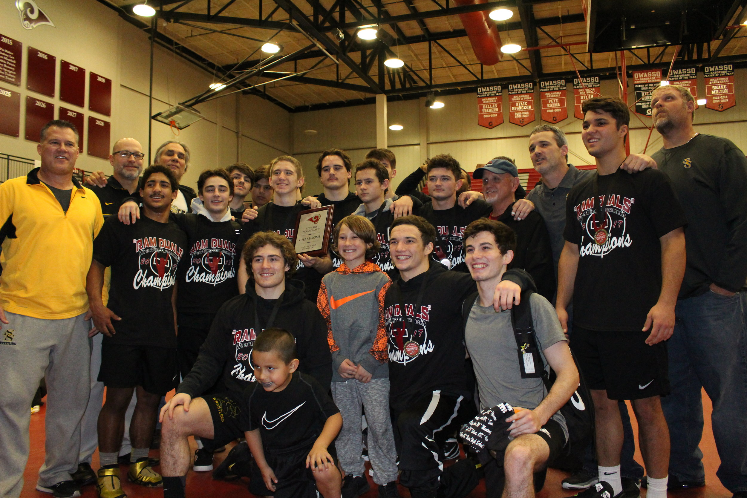 The Sandites claimed the 2nd Annual Ram Duals Championship with a 48-18 victory over 3A No. 1 Perry.