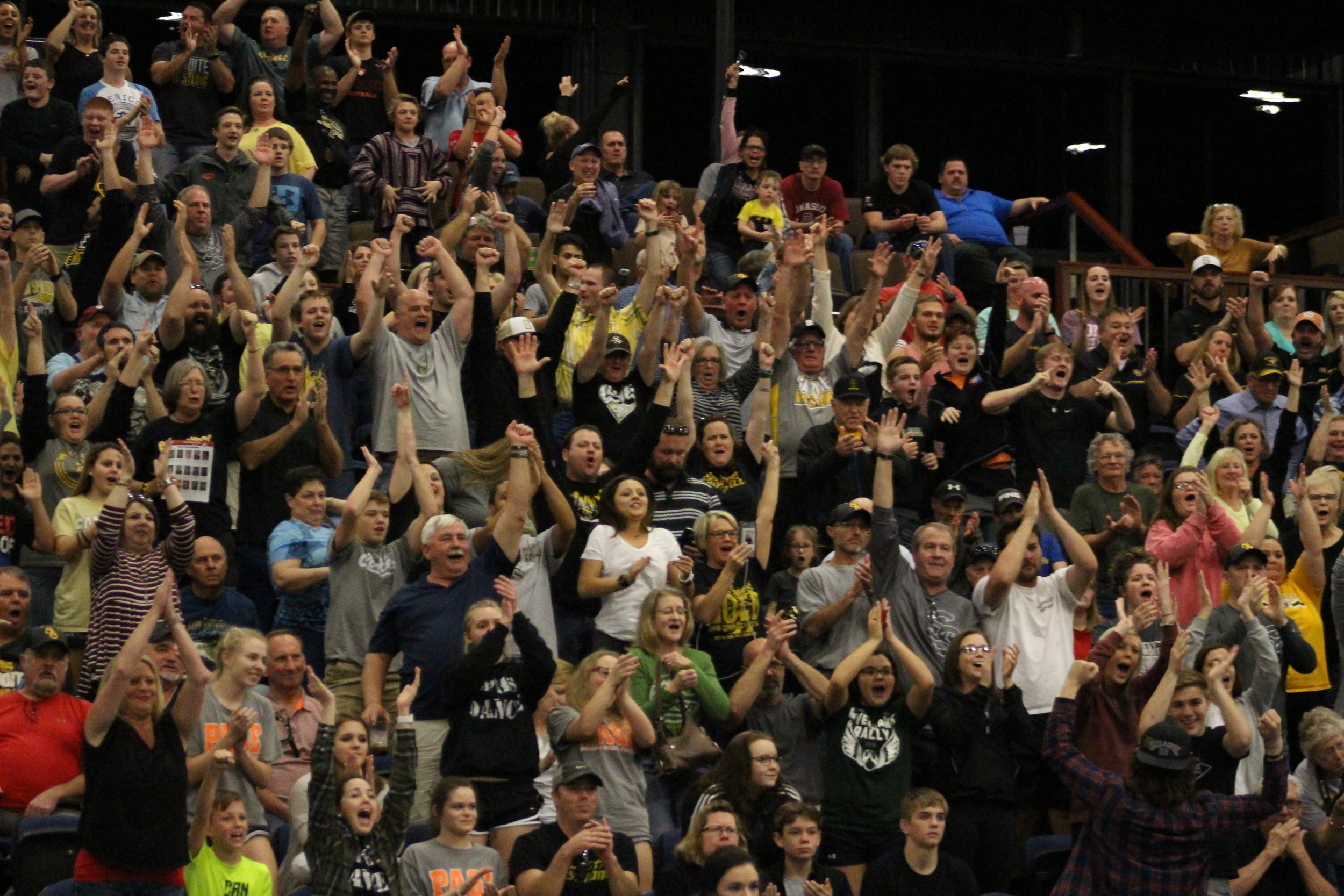 Sandite Wrestling fans packed out Firelake Arena for the Dual State Championship.