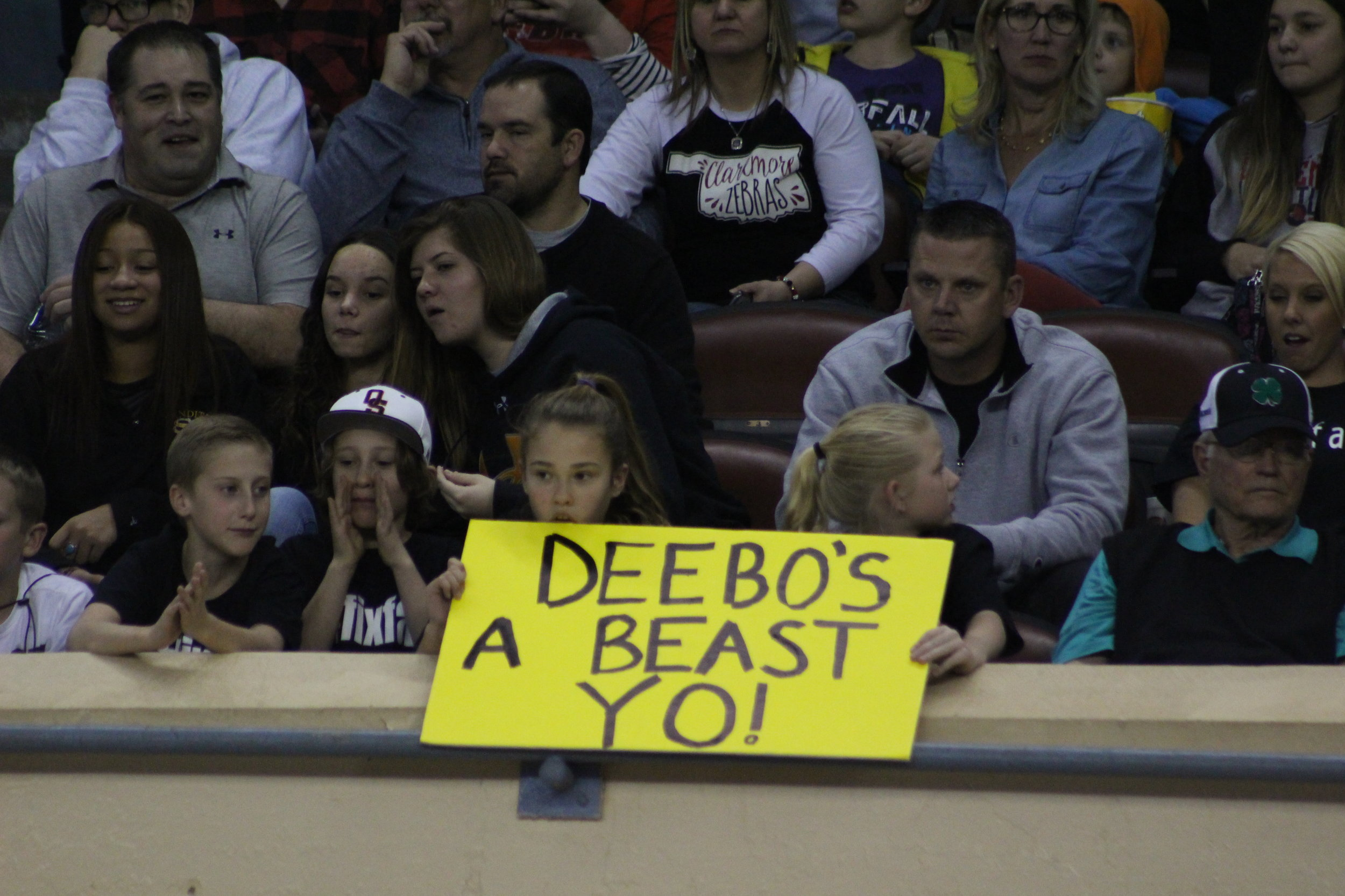 These young fans had signs for each of the Sandite finalists.