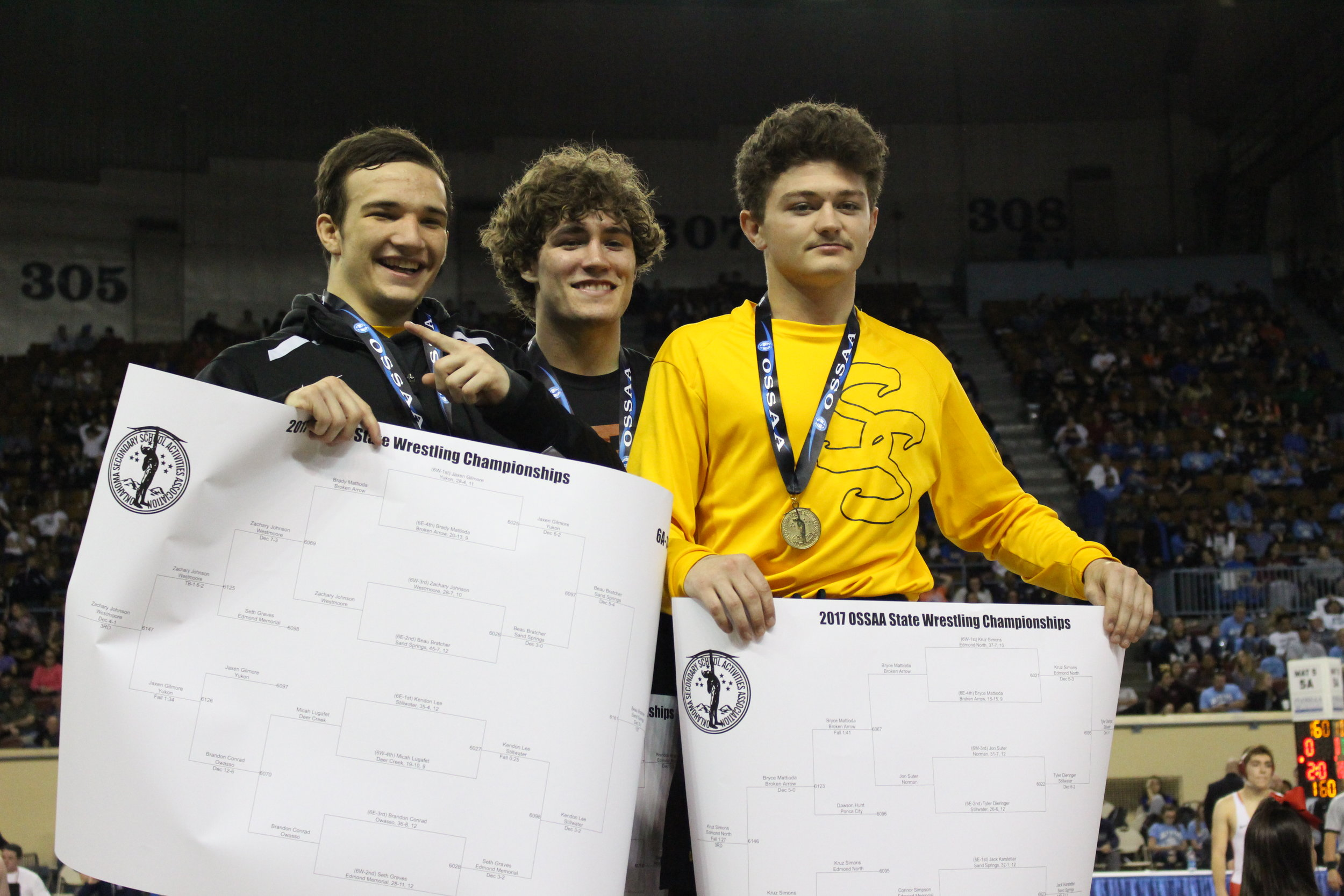 The three State Champions from the Class of 2017.